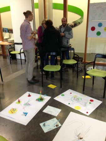 Artistic creations of SUSPLACERs during the facilitation workshop by RHDHV (Photo: Lorena Axinte)